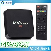 CAJA DE TV MXQ PRO Quad Core 1 GB RAM 8 GB ROM Rockchip RK3229 Caja de TV cuádruple Android 7.1 con personalizado 17.6 4K Media Player MQ20