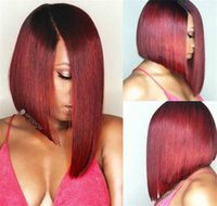 Human Hair Short Wigs For Black Women Brazilian Ombre Color ...