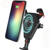 Fast Qi Wireless Charger Car Mount Phone Holder Gravity Reac...