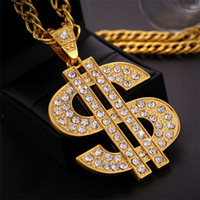 Hip Hop Jewelry Gold Color US Dollar Money Pendant Necklaces Luxury Chain Jewelry Women Accessories Necklace Christmas Gift