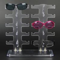 DHL 플라스틱 PVC 선글라스 디스플레이 스탠드 분리형 안경 저장 랙 투명 플라스틱 선글라스 디스플레이 스탠드 가장 저렴한 가게