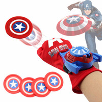 Iron Man 5 Arten PVC 24 cm Batman Handschuh Action Figure Spiderman Launcher Spielzeug Kinder Geeignet Spider Man Cosplay Cartoon Spielzeug