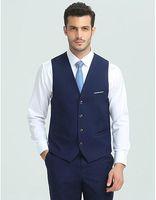 2018 Fashion Homme Business Vest occasionnel Slim Costume Vest de costume d'affaires pour hommes pour les gilets de mariage