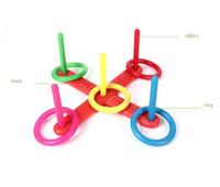 NOUVEAU Hoop Anneau Jet Toss En Plastique Anneau Quoits Jardin Jeu Piscine Jouet Amusement En Plein Air Ensemble 2017 jouets pour enfants