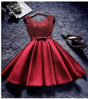 burgundy sweet 16 dress homecoming dresse Sheer Scoop Neckli...