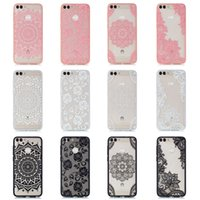 Relief lace pattern For Huawei P Smart Enjoy 7S Case Fashion...