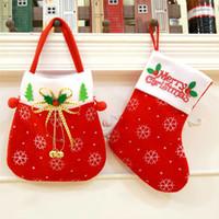 Weihnachtsdekoration Strümpfe Weihnachtsmann Socke Geschenk Kinder Süßigkeiten Tasche Chirstmas Weihnachtsbaum Hängende Verzierung Haus Verzieren