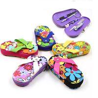 Flip Flop Pedicure Manicure Set porta da sposa regali da sposa favori regali promozionali Spedizione gratuita 100 pezzi lotto all'ingrosso