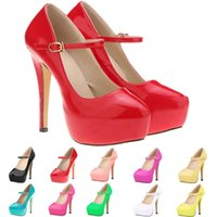 Women Pumps Round Toe Sexy Extreme High Heels Platform Pumps...