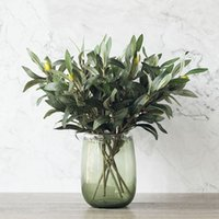 Green Artificial Olive Branch Simulation Plant Olive Leaf Ho...