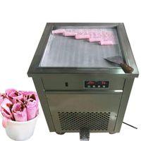 Beijamei 광장 튀김 팬 110v 220v 전기 프라이드 압연 아이스크림 요구르트 롤 머신 프라이팬 아이스크림 기계