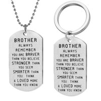 Brother- Inspirational Keychain Always Remember You Are Brave...