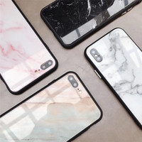 New Arrivals Fashion Marble Glass Phone Case for iPhone X 6 ...