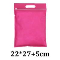 22 centimetri * 27 centimetri 22x27 cm rosa rosso traspirante non tessuto tote maniglia richiudibile cursore zip blocco sacchetto indumento biodegradabile