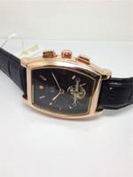 Relógio de couro luxuoso de TEVISE do estilo, relógio automático mecânico para homens TE15
