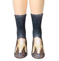 Mode 3D Simulation Tier Pfote Huf Socken schöne Crew Socken für Männer Frauen unisex süßes Mädchen Sport Strumpf Cartoon Hause Boden Socke