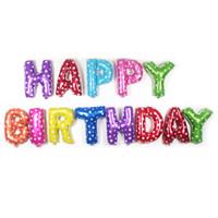 Letras multicolor Feliz Cumpleaños Foil Balloons Fiesta de cumpleaños Fiesta de cumpleaños Balloons Toys Decoraciones Suministros