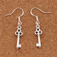 Цветок тонкий ключ серьги 925 серебряные рыбы уха крюк 50 пар/лот мотаться 6.5x39 мм люстра ювелирные изделия E881