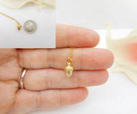 30 قطع الذهب / الفضة صغيرة كوز الجوزة قلادة الحد الأدنى داين الصنوبر المخروط قلادة السنجاب الجوز القلائد ل محظوظ هدية