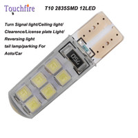 10pcs T10 2835smd License plate Car indicator Lamp width DC ...