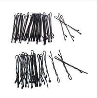 120 pçs / set Pro Grampos de Cabelo 6 cm Preto Pinos Encaracolado Apertos Penteado Barrette Hairpin Hair Hairdressing Styling DIY ferramentas