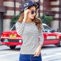 Tshirt 2019 Autumn Winter T- shirts For Women Classic Stirped...