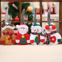 New Kitchen Dining Table Cutlery Suit Cover Christmas Decora...