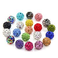 10mm gioielli nuovi colori strass mix bianco nuova discoteca palla perline argilla Shamballal sfera di cristallo perline fai da te