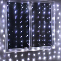Großhandels4mx2m 256 LED Innenfeiertags Beleuchtung Weihnachtsdekorativer  Weihnachtsvorhang Schnur Fee Girlanden Partei Hochzeits Licht US / UK / EU  / AU