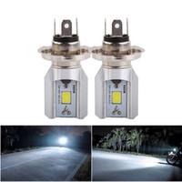Steckerspiel Motorrad Lichter LED-Scheinwerfer H4 Birne 6W 800LM 6500K COB-Lichtquelle Roller Motobike-Scheinwerfer, Motorradscheinwerfer