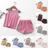 Fashion Kid Suit Sleeveless Top Tees and Shorts Pants Boy an...