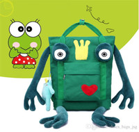 new The Frog Prince Lovely cartoon backpacks Canvas travel b...