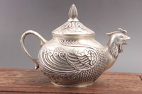 Exquisite Chinese hand carved the chicken copper teapot as51...
