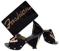 2018Italienische stil hochzeit damen party high heels 6,5 cm schuhe passenden taschen gesetzt Dubai style schuhe passenden taschen gesetzt
