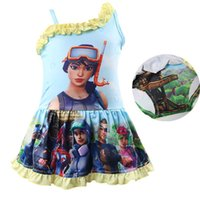 Game Fortnite printing children Swimwear 2018 summer baby gi...