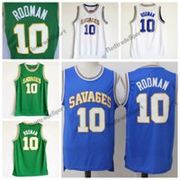 Mens Vintage Oklahoma Savages The Worm Dennis Rodman #10 Col...