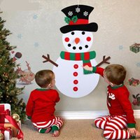 Christmas DIY Felt Snowman New Year Gift Kids Toys with Orna...