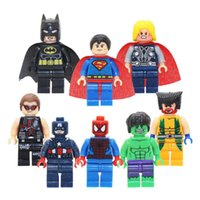 8pcs lot Minifigure Super Heroes Blocks Bricks Toys The Aven...