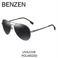 BENZEN Polarize Güneş Gözlüğü Erkekler Için Marka Tasarımcısı Pilot Erkek Güneş Gözlükleri Sürüş Vintage Gözlük Shades Ile Kılıf 9091