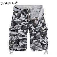 Dropshipping 2018 New Summer Men's Short de camouflage en coton Short cargo militaire Shorts d'entraînement Short décontracté décontracté NO BELT
