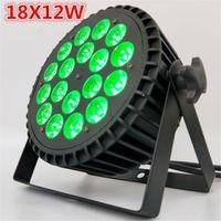 pressofusione di alluminio 18x12W RGBW 4in1 LED della lavata di par par ha portato LED piatto Par Can 18x12W illuminazione per il partito di KTV della discoteca del DJ della lampada