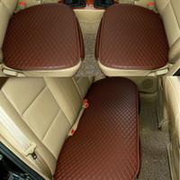 유니버설 가죽 자동차 시트 커버 프론트 뒷좌석 뒷면 5 좌석 쿠션 프로텍터 포시즌 안티 슬립 인테리어 액세서리