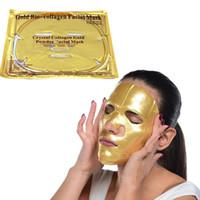Großhandel Gold Bio-Kollagen Gesichtsmaske Gesichtsmaske Kristall Gold Pulver Kollagen Gesichtsmaske Feuchtigkeitsspendende Anti-Aging 24 Karat Gold Masken