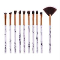 Marbre Maquillage Brosses Set 2 Styles Fard À Paupières Blush Soft Brushes Kit livraison gratuite Beauté maquillage festonné brosse BR016