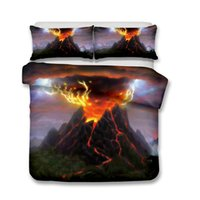 3D ART Bedding Sets Volcanic 3pcs Duvet Covers Pillow Case Q...