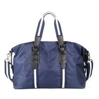 Homens de marca por atacado sacos de luz ocasional à prova d 'água tarja bolsas esportes de fitness dobrável Oxford bolsas de pano de nylon sacos de bagagem de moda