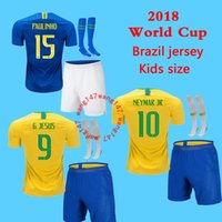 kids kits+ sock soccer jersey NEYMAR JR 18 19 child G JESUS P...