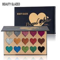 المهنية الجمال GLAZED15 ألوان ماكياج عينيه لامع التجميل ظلال العيون لوحة وميض مسحوق فضفاضة الاستوائية عالية ضوء الترتر
