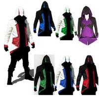 최신 어쌔신 크리드 3 III 코너 켄 웨이 후드 코트 재킷 애니메이션 코스프레 어쌔신 의상 코스프레 오버 코트