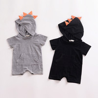 New 2018 Dinosaur Rompers Short Sleeve Cotton Jumpsuits Summ...
